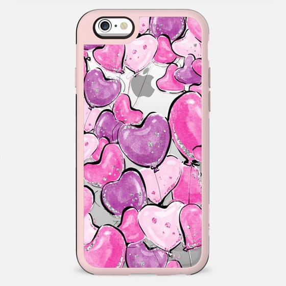 Violet Purple and Pink Heart Balloons - New Standard Case