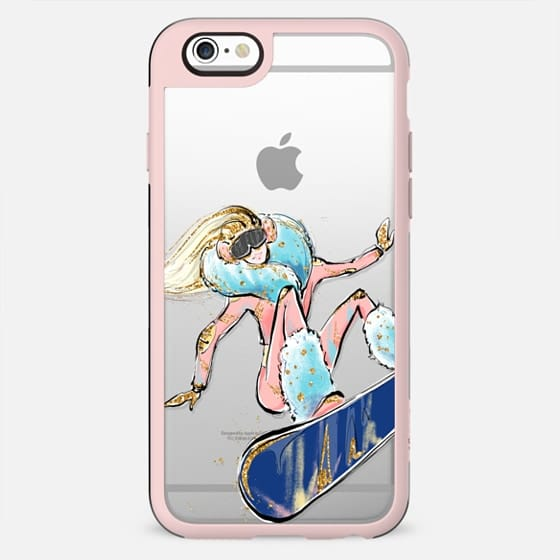 Snowboarding Girl - Blonde Hair | Winter Sports Fashion Illustrations Transparent Case - New Standard Case