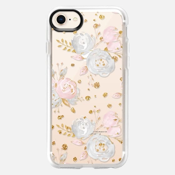 Blush Peonies Wedding Flowers Romantic Spring Pattern - Snap Case