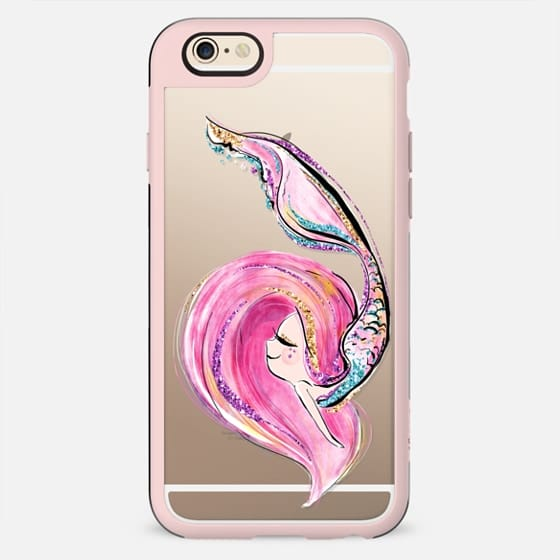 Pink Mermaid | Transparent Case
