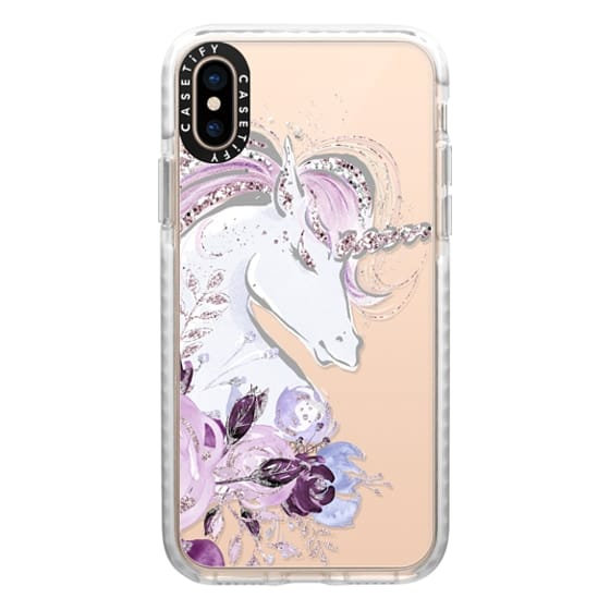 iPhone XS Cases - Dreaming Unicorn