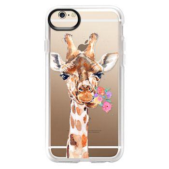 Grip iPhone 6 Case - Giraffe with Flowers