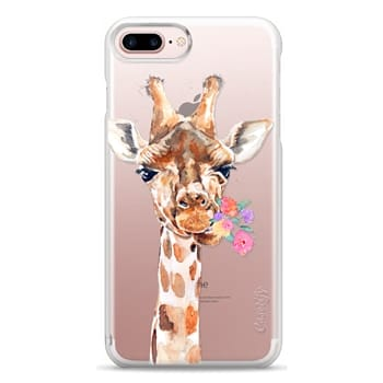 Snap iPhone 7 Plus Case - Giraffe with Flowers