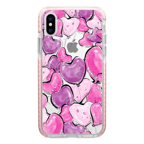 iPhone 6s Cases - Violet Purple and Pink Heart Balloons