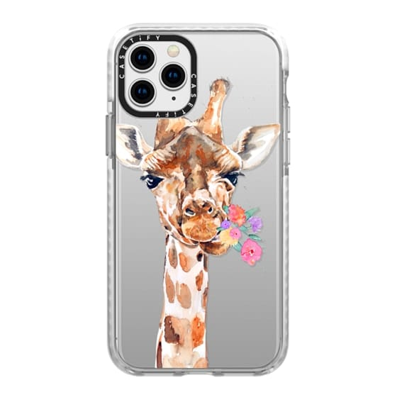 iPhone 11 Pro Cases - Giraffe with Flowers
