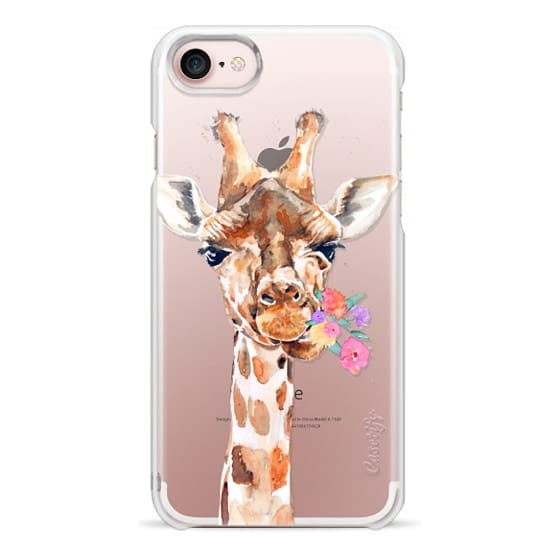 iPhone 7 Cases - Giraffe with Flowers
