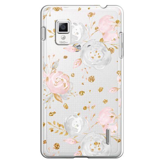 Optimus G Cases - Blush Peonies Wedding Flowers Romantic Spring Pattern