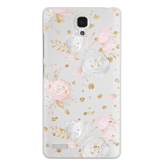 Redmi Note Cases - Blush Peonies Wedding Flowers Romantic Spring Pattern