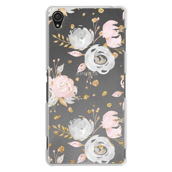 Sony Z3 Cases - Blush Peonies Wedding Flowers Romantic Spring Pattern