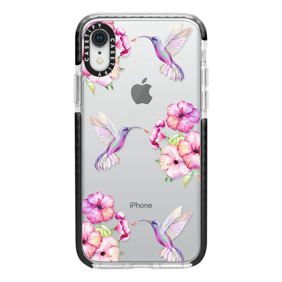 iPhone XR Cases - Tropical Birds and Flowers
