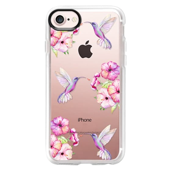 iPhone 7 Cases - Tropical Birds and Flowers