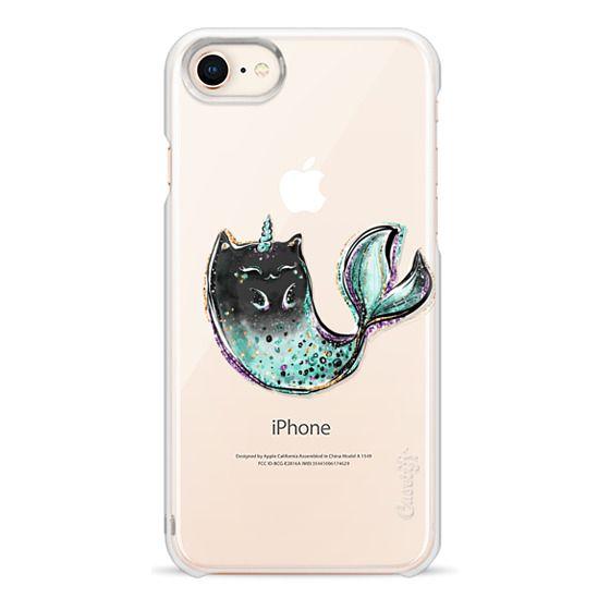 buy popular 89369 0ec8b Impact iPhone 8 Case - Black Cat Mermaid Unicorn | Boy Version Transparent  Clear Case