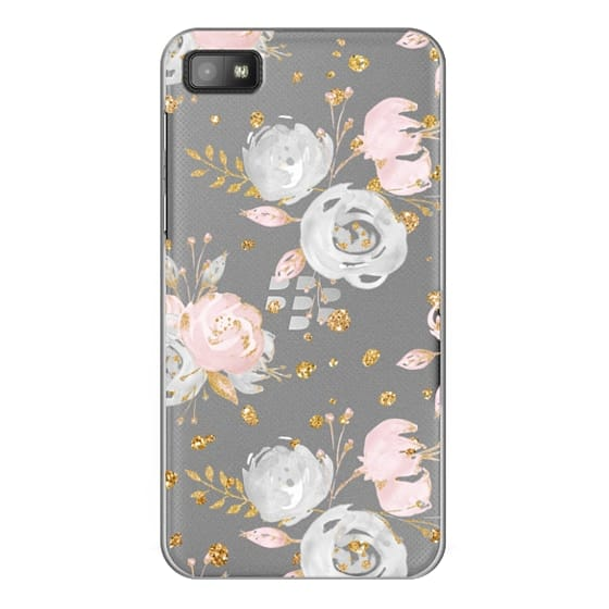 Blackberry Z10 Cases - Blush Peonies Wedding Flowers Romantic Spring Pattern