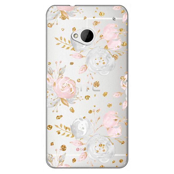 Htc One Cases - Blush Peonies Wedding Flowers Romantic Spring Pattern