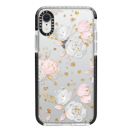 iPhone XR Cases - Blush Peonies Wedding Flowers Romantic Spring Pattern