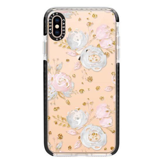 iPhone XS Max Cases - Blush Peonies Wedding Flowers Romantic Spring Pattern