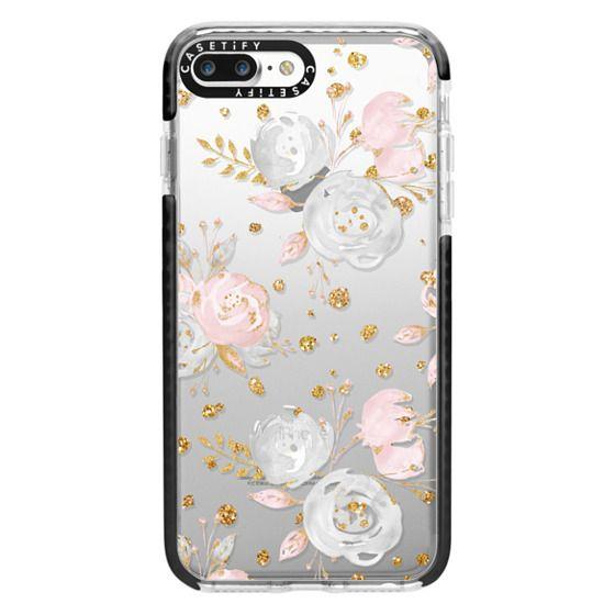 iPhone 7 Plus Cases - Blush Peonies Wedding Flowers Romantic Spring Pattern
