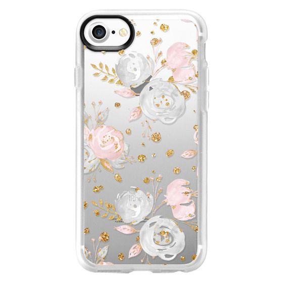 iPhone 4 Cases - Blush Peonies Wedding Flowers Romantic Spring Pattern