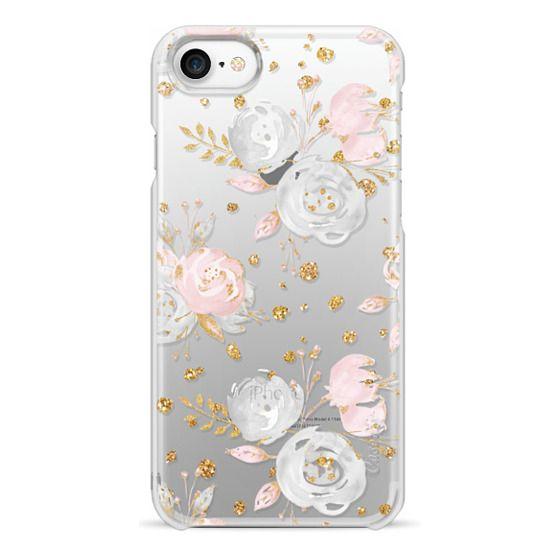 iPhone 7 Cases - Blush Peonies Wedding Flowers Romantic Spring Pattern