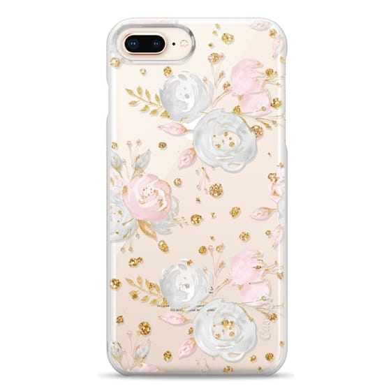 iPhone 8 Plus Cases - Blush Peonies Wedding Flowers Romantic Spring Pattern