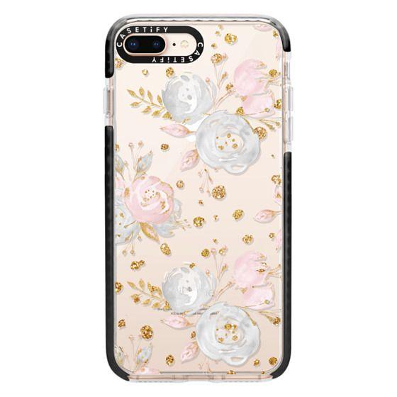iPhone 8 Plus Cases - Blush Peonies Wedding Flowers Romantic Spring Pattern