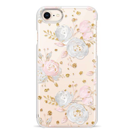 iPhone 8 Cases - Blush Peonies Wedding Flowers Romantic Spring Pattern