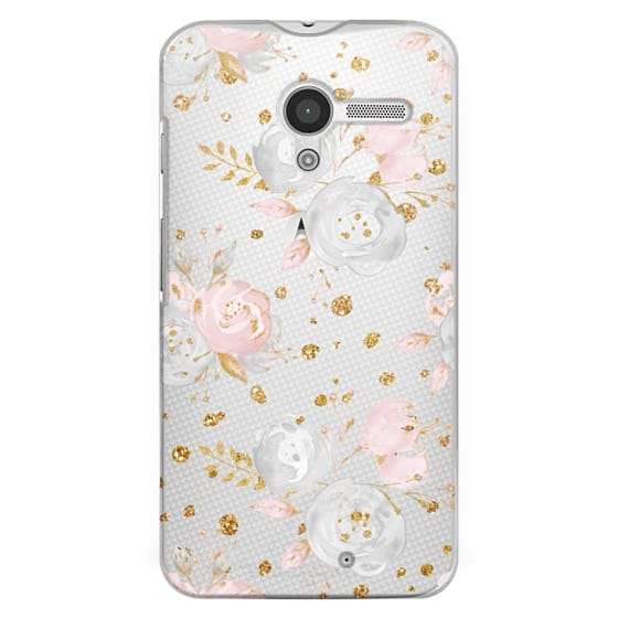 Moto X Cases - Blush Peonies Wedding Flowers Romantic Spring Pattern