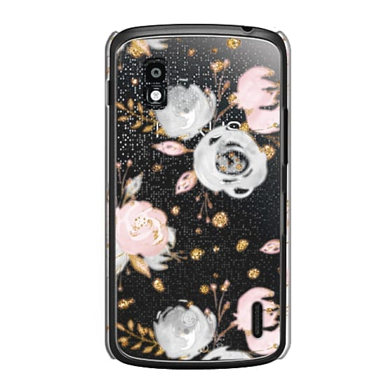 Nexus 4 Cases - Blush Peonies Wedding Flowers Romantic Spring Pattern
