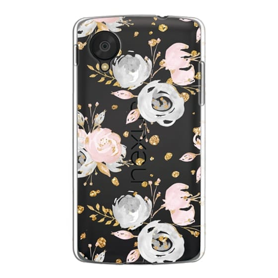 Nexus 5 Cases - Blush Peonies Wedding Flowers Romantic Spring Pattern