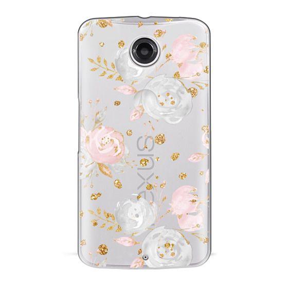Nexus 6 Cases - Blush Peonies Wedding Flowers Romantic Spring Pattern