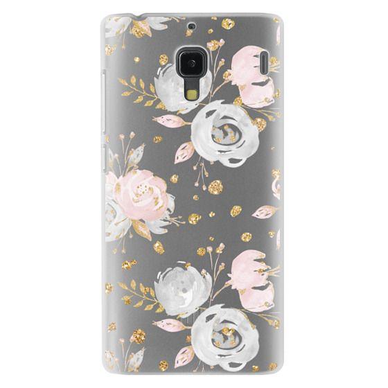 Redmi 1s Cases - Blush Peonies Wedding Flowers Romantic Spring Pattern