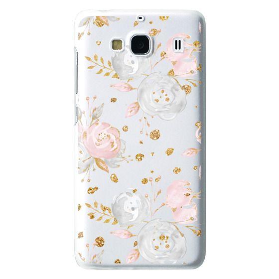 Redmi 2 Cases - Blush Peonies Wedding Flowers Romantic Spring Pattern