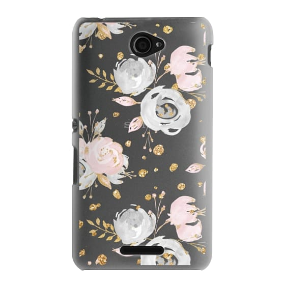 Sony E4 Cases - Blush Peonies Wedding Flowers Romantic Spring Pattern