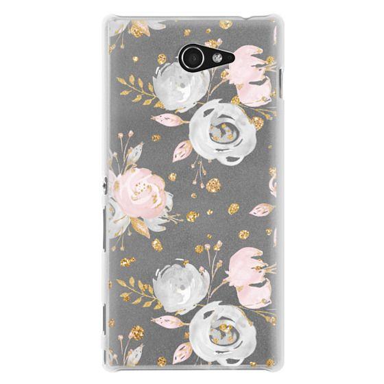 Sony M2 Cases - Blush Peonies Wedding Flowers Romantic Spring Pattern