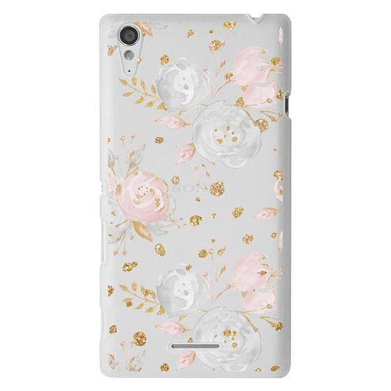 Sony T3 Cases - Blush Peonies Wedding Flowers Romantic Spring Pattern