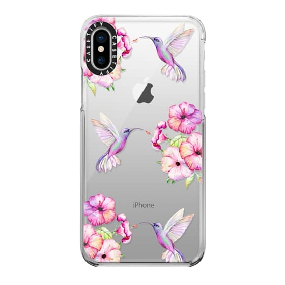 iPhone X Cases - Tropical Birds and Flowers