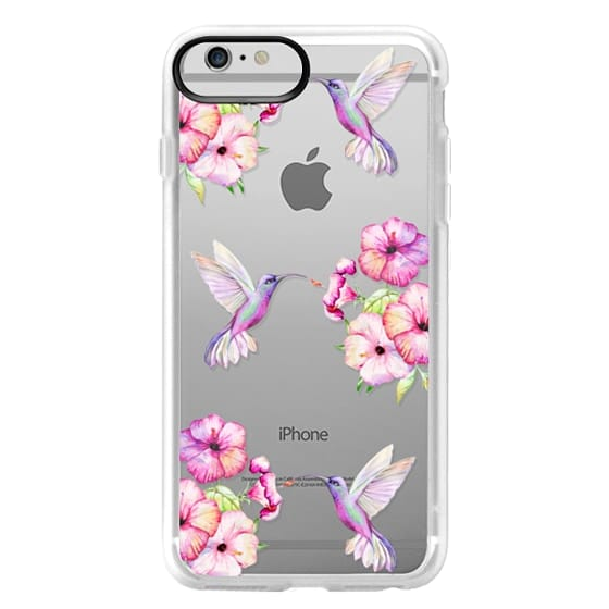 iPhone 6 Plus Cases - Tropical Birds and Flowers