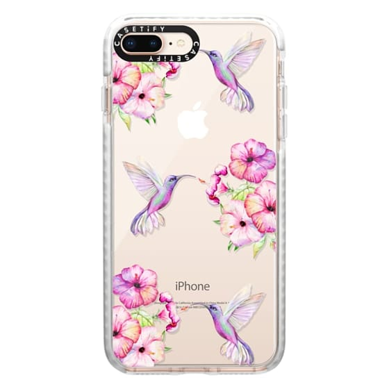 iPhone 8 Plus Cases - Tropical Birds and Flowers