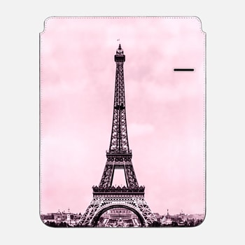 "iPad Pro 12.9"" Sleeve Vintage retro Eiffel tower Paris France in pink (image is public domain)"