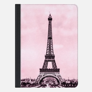 "iPad Pro 9.7"" ケース Vintage retro Eiffel tower Paris France in pink (image is public domain)"
