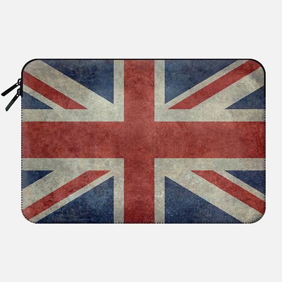 United Kingdoms Union Jack flag in Vintage retrostyle - Macbook Sleeve
