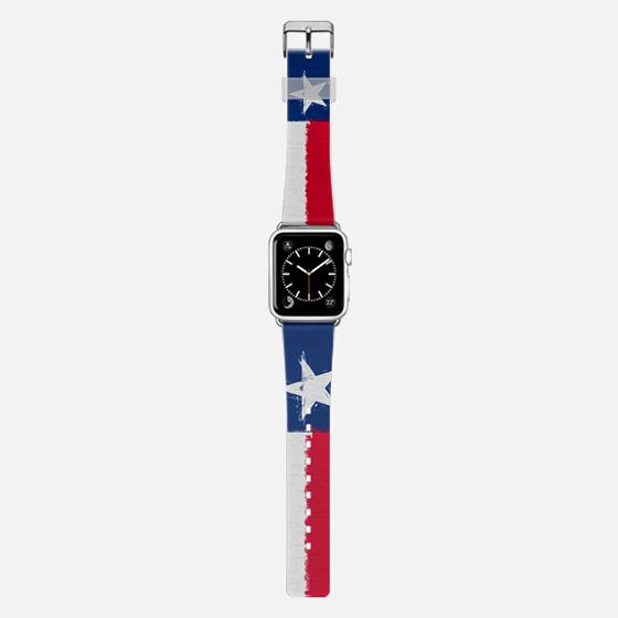 Texas state flag with heavy oil impasto strokes -