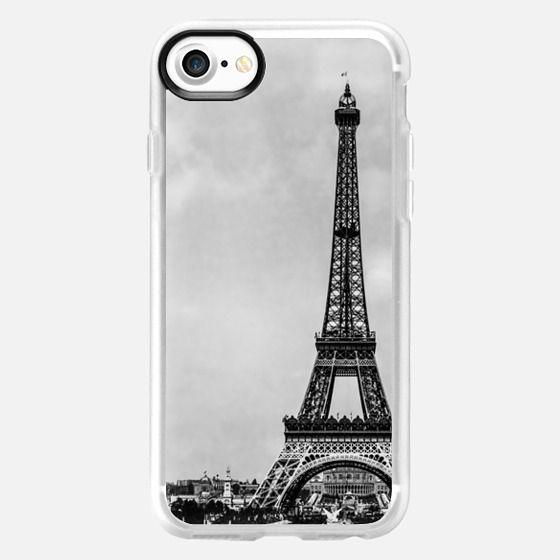Vintage retro Eiffel tower Paris France (image is public domain) -