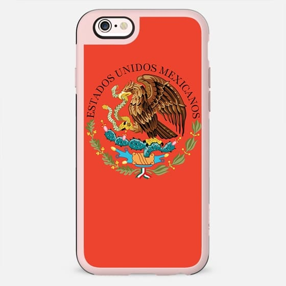Mexico national crest on adobe red - New Standard Case