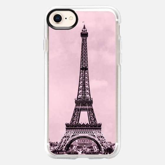 The Eiffel tower, Paris, France - in pink - Snap Case