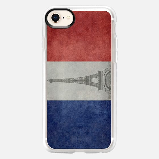 We will always have PARIS darling! - Vintage national flag of France with Eiffel tower insert - Snap Case