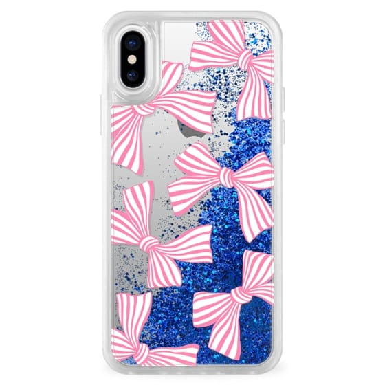 iPhone X Cases - Pink Striped Bows
