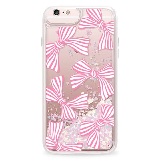iPhone 6s Plus Cases - Pink Striped Bows
