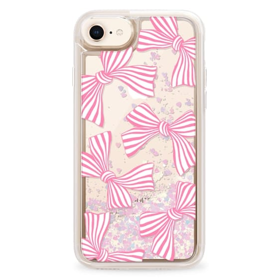 iPhone 8 Cases - Pink Striped Bows