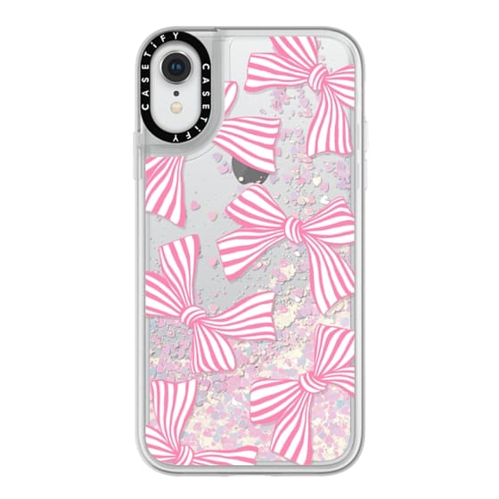iPhone XR Cases - Pink Striped Bows